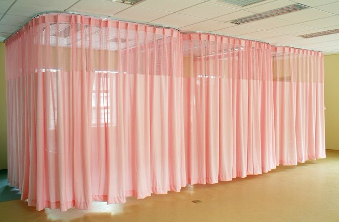 Inherenty FR cubical Curtain